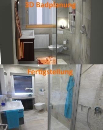 3D Badezimmerplanung und Fertigstellung