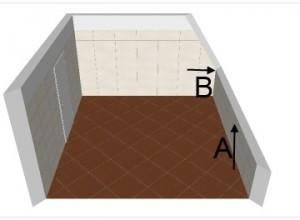 Dachschräge im Badplaner übertragen