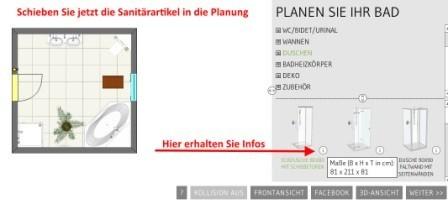 Sanitärartikel in die Planung einbauen