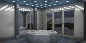 Mit dem 3D Badplaner wurde hier ein Luxusbad geplant