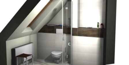 kleines Badezimmer mit Dachschräge
