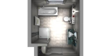 Idee vom Badplaner. 3D Draufsicht