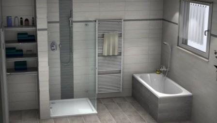 Badidee mit zusätzlichen Ablageflächen im Bad