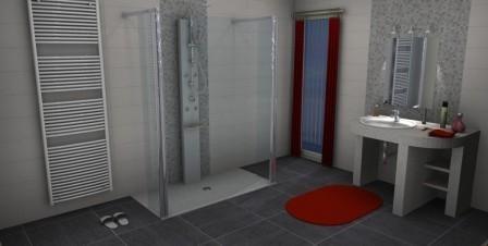 Fliesen von Jasba Serie Homing und einer Walk In Dusche