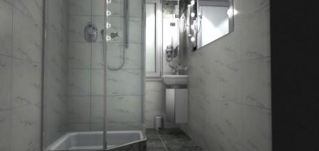 Der Badezimmer Eingangsbereich