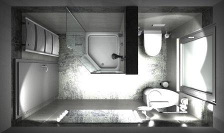 Die Hotel Badezimmer Badplanung in 3D