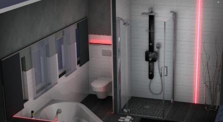 3D Lichtplanung mit Lichtleisten im Bad