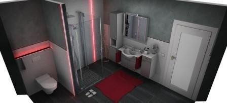 3D Badplanung mit Lichtleisten und Badea Waschtisch